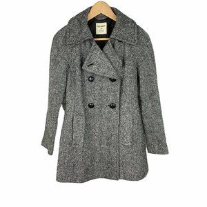 Old Navy Double-Breasted Wool Peacoat Gray XS